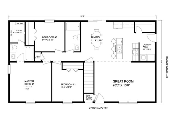 1 000 to 1 500 sq  ft  ranch floor plans