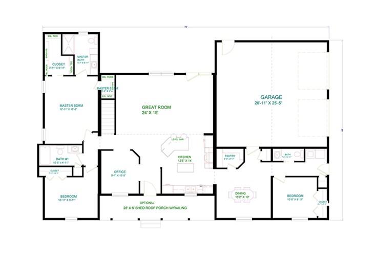 2 001  sq  ft  ranch floor plans