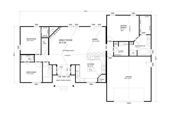 1 701 to 2 000 sq ft ranch floor plans advanced for Advanced home designs
